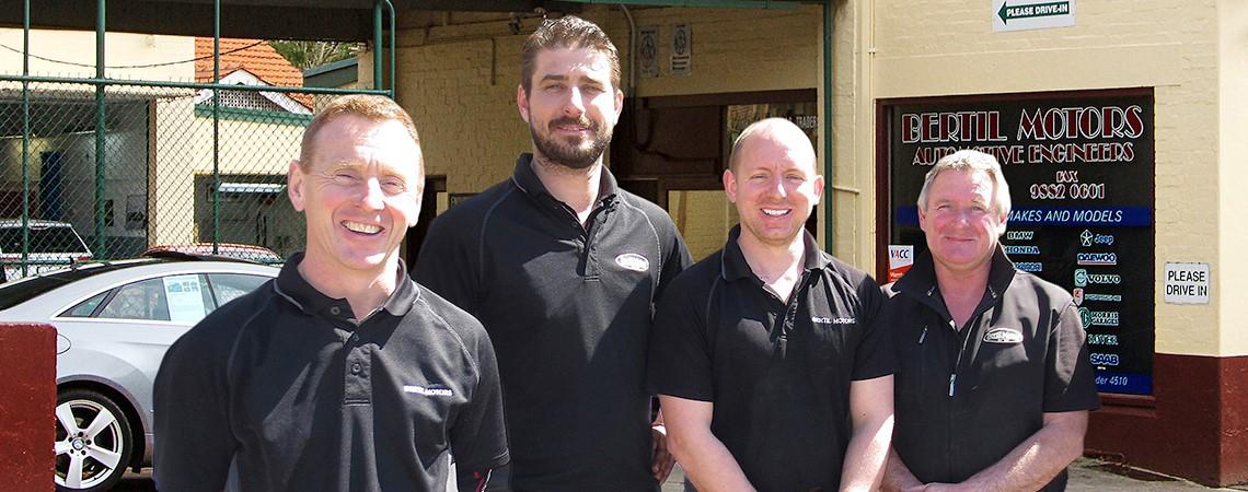 The Bertil Motors team